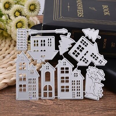 Christmas House Cutting Dies Stencil DIY Scrapbook Embossing Paper Card Decor