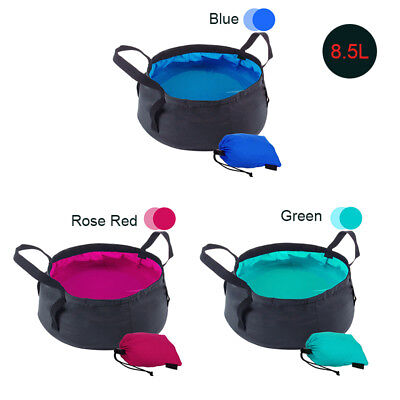 8.5L Travel Washbasin Folding Portable Bucket Camping Collapsible Water Bucket