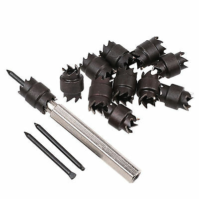 """13Pcs 3/8"""" Double Sided High Speed Rotary Spot Weld Cutter Drill Bit Tools New"""