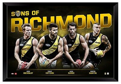 Richmond Tigers Fc Sons Of Richmond Framed Memorabilia Official Licensed