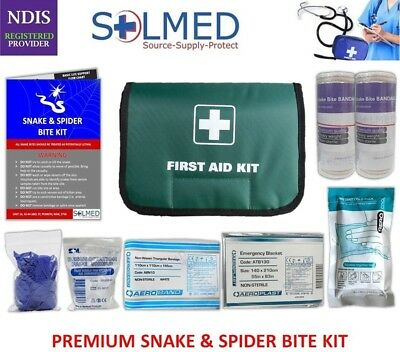 Premium Snake and Spider Bite Kit (2 in 1) With Tension Indicator Bandages