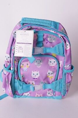 NWT Pottery Barn Kids Mackenzie lavender purple kitty cat small backpack