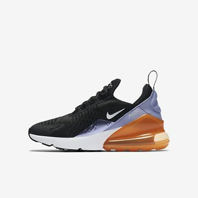 new concept 5a983 959c0 NIKE AIR MAX 270 Black Twilight Pulse Total Orange White 943346 004 GS Boys  Girl