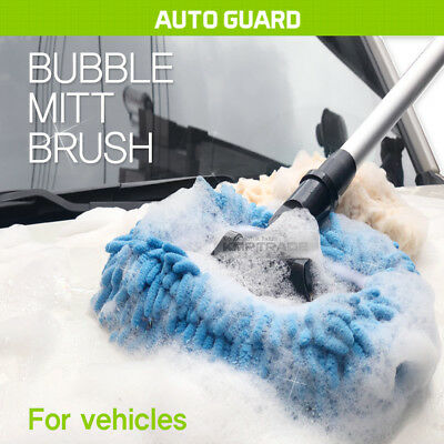 Car Care Adjustable Telescopic Cleaning Wiping Soft Milk Silk Mop Wash BrushTool