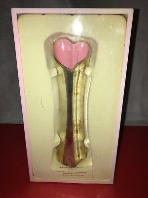 Lenox Gift Of Knowledge Bud Vase Breast Cancer Pink Heart Vase Silver NEW In Box