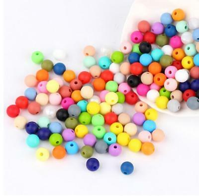 DIY 10X Food grade Silicone loose Beads Baby Teether Pacifier chain  Accessories