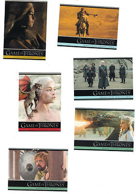 Game of Thrones Season 2+3+4+5+6+7 Trading Card Sets Lot (6 Sets) + 6 Promos