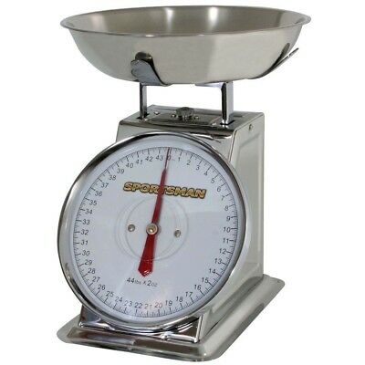 Analog Food Scale Stainless Steel 44lb Bakers Butchers Hunters Kitchen Tool