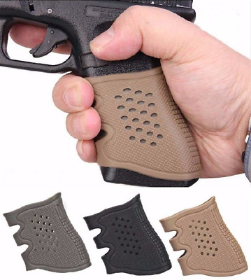 Tactical Pistol Rubber Grip Glove Sleeve For Airsoft Outdoor Hunitng