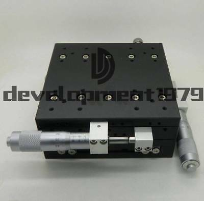 LY125-R XY-Axis Stage Manual Slide Table Trimming platform 125*125mm 57.5mm