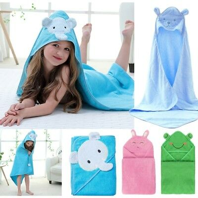 Cotton Bathrobe Baby Boys Girls Animal Hooded Bath Towel kids Cartoon Towel