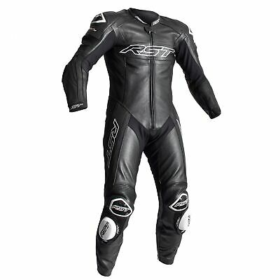 RST Tractech Evo R (CE) One Piece Leather Motorcycle Race Suit Black