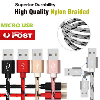 Fast Charging microUSB 2.0 USB Data Sync Cable Charger Samsung HTC Huawei LG