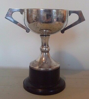 Vintage large silver plate cricket trophy, silver, trophy, trophies, cricket