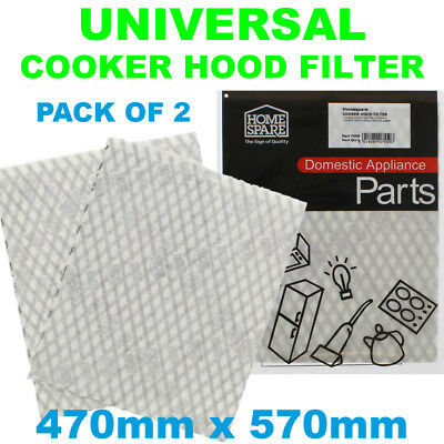 Proline Cooker Hood Extractor Grease Filter Cut To Size 47cm x 57cm x2