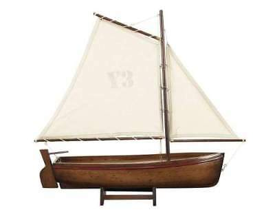 NEW Madera Hand-Carved Sailboat Model Honey
