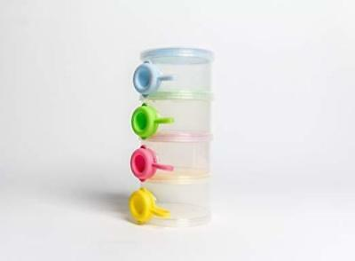 OceanBaby 4 Twist Lock Stackable Container Non Spill Baby Food Dispenser