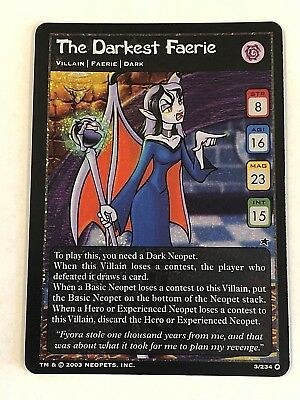 The Darkest Faerie Foil 2003 Neopets Trading Card Unplayed