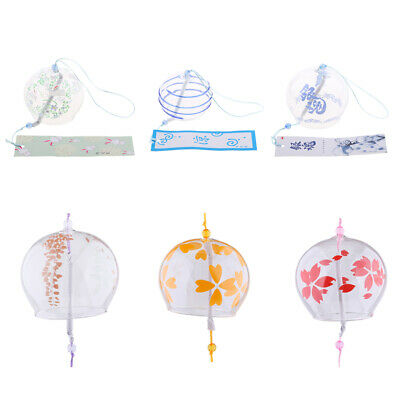 Japanese Style Glass Wind Chimes Outdoor Bell Home Lovely Decor Ornament