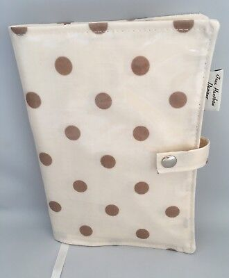 A5 Diary Cover,Journal Cover,Nurses Diary Cover,Week To View Cover,Cream Spotty