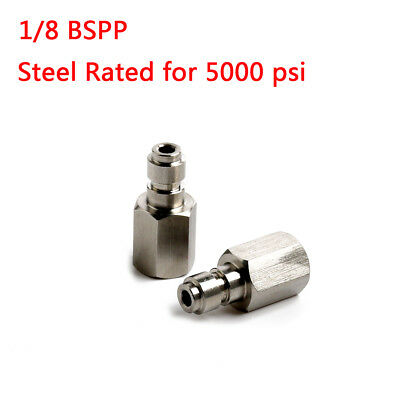 Steel Rated to 5000 PSI Male Coupling Quick-Disconnect 1/8 BSPP Female Thread US