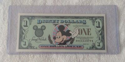 DISNEY DOLLAR - 1999 - $1 Mickey Mouse & Castle - Brand NEW - uncirculated RARE