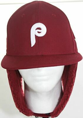 uk availability d7852 a02f8 Philadelphia Phillies New Era MLB Team Dog Ear 59FIFTY Red Fitted Cap Size 7  1