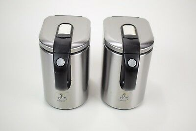 Lot of 2 Simple Human 1 touch canisters - small