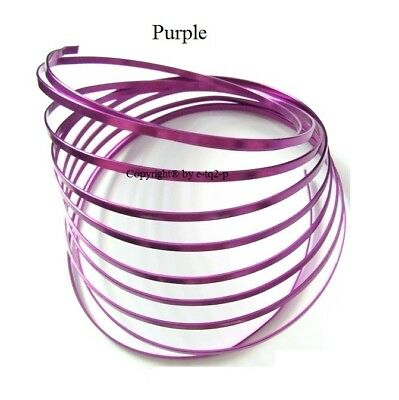 5mm wide Violet Purple FLAT Aluminium Wire Jewellery findings Wire Jig 3m Length