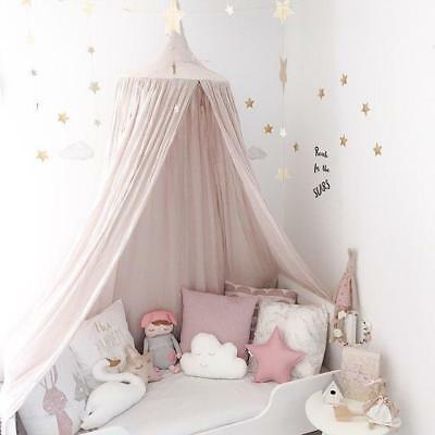Mosquito Net Babies Room Decoration Bed Curtain Round Crib Tent Cotton Hung Dome