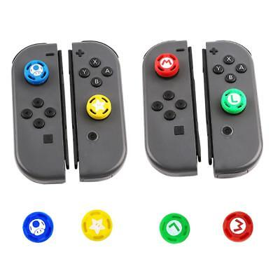 4x Silicone Analog Thumb Stick Grip Caps Cover for Nintend Switch NS Controller