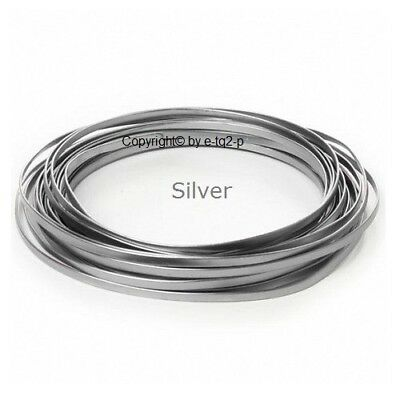 8 Rolls5mm wide SILVER FLAT Aluminium Wire Jewellery Floral findings Wire Jig 3m