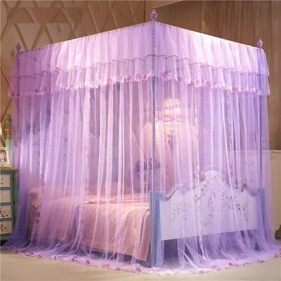 Mosquito Nets Three Open Doors Stainless Steel Brackets Curtains Beds Canopy Net