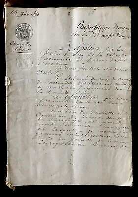 1800s Signed 24 page Document Napoleon
