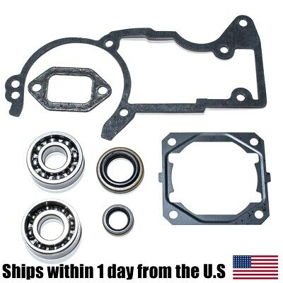 Crankshaft Crank Bearing Oil Seals Gasket Set for Stihl MS440 044 Chainsaws