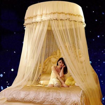 Mosquito Net Double Bed Girl Insect Netting Hung Dome Curtains Canopy Lace Round
