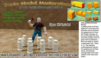 8pcs HO Scale Model Masterpieces//Yorke WOOD CRATES//BOXES