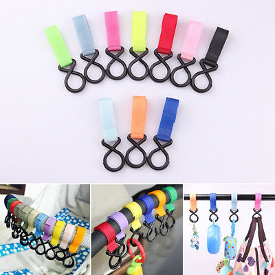 Baby Kids Stroller Pram Pushchair Shopping Bag Handbag Hook Hanger Clips Carrier