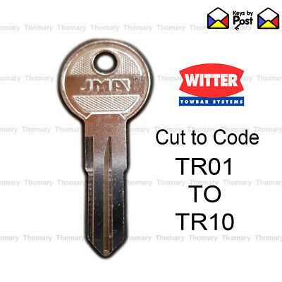 Witter Towbar Key TR Series Keys Cut to Code (TR01 to TR10)