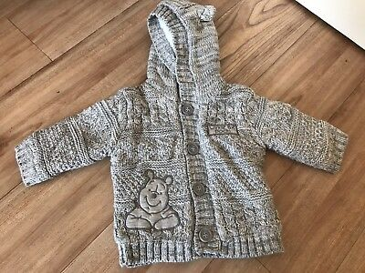 Baby 0-3 Months Boy Girl Winter Jacket Hooded Disney Winnie The Pooh