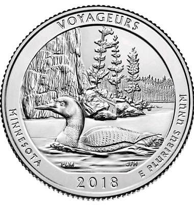 2018-D Voyageurs National Park Minnesota BANK WRAPPED ROLL by LOOMIS