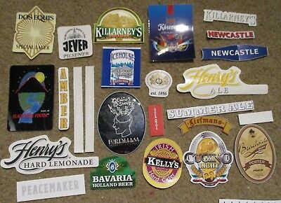 25 BEER STICKER PACK LOT decal craft beer brewing brewery tap handle J