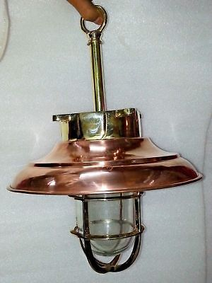 vintage style new marine brass and copper ship nautical hanging light 1 piece