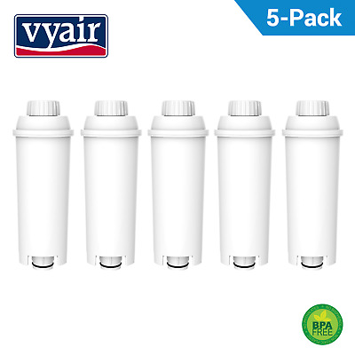 5 x Compatible Coffee Machine Water Filter Softener for DeLonghi DLSC002 SER3017