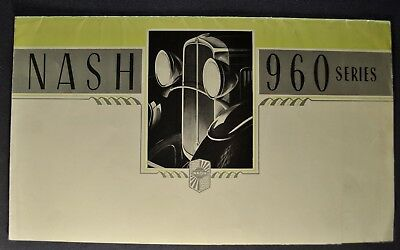 1932 Nash 960 Sales Brochure Folder Nice Original 32