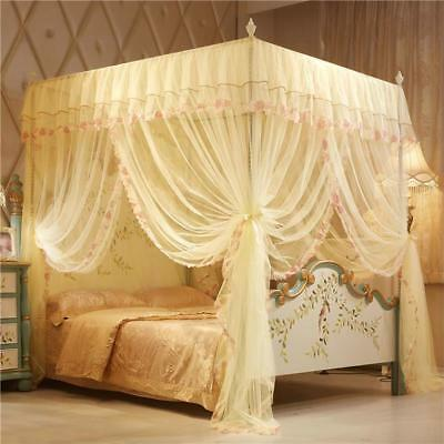 Netting Curtain Mosquito Nets Lace Polyester Folded Insect Bed Canopy Round Dome