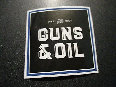 Guns & Oil Austin TEXAS Square STICKER decal craft beer brewery brewing