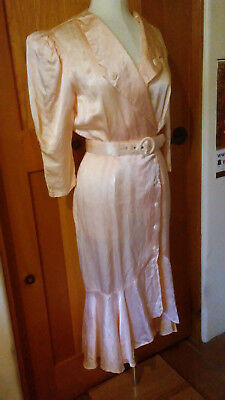 SEXY VINTAGE 60's 70's FREDERICK'S OF HOLLYWOOD ROBE DRESSING GOWN PEIGNOIR XS!