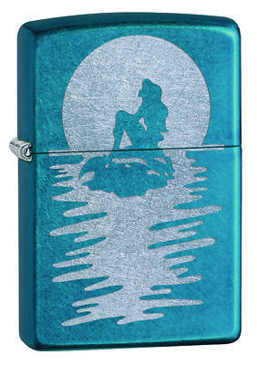 Zippo Custom Lighter Sexy Sea Mermaid Silhouette On Rock with Shadow New Gift US