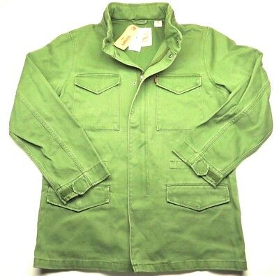 NEW WITH TAGS Levi Strauss & Co. Green Zip Up Jacket With Hood Adult Size XXL